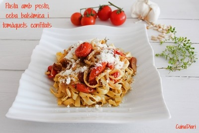1-4-Pasta amb pesto ceba i tomaques confitades cuinadiari ppal-1