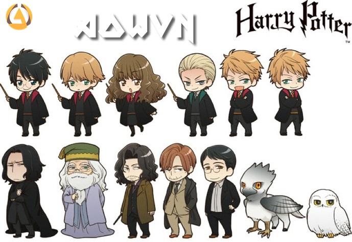 chiem nguong cac nhan vat harry potter phien ban anime - [ Phim 3gp Mp4 ] Tổng hợp toàn bộ Harry Potter   Vietsub - Hành động pháp thuật