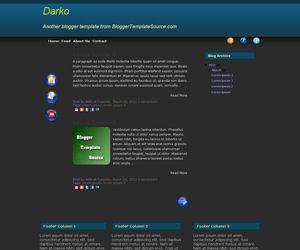 blogger template 1 column custom menu