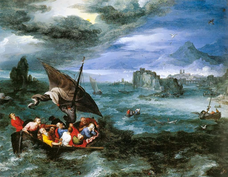 Jan Brueghel the Elder - Christ in the Storm on the Sea of Galilee