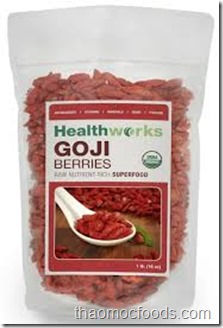 Câu kỷ tử– Goji Berries–US2010001  (Healthworks Certified Organic )