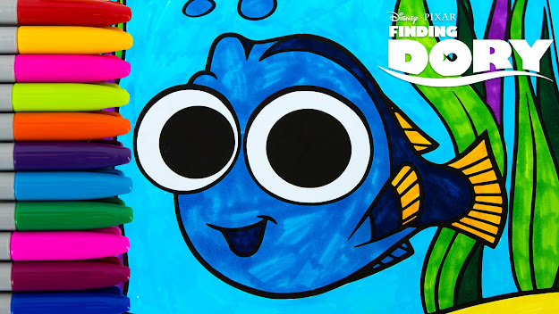 Finding Dory Baby Dory Coloring Book Episode Colors Crayola Kids Fun  Activity Book