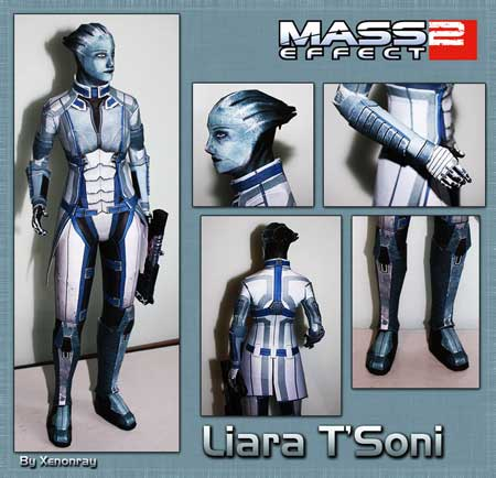 Mass Effect 2 Liara TSoni Papercraft