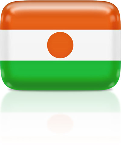 Nigerien flag clipart rectangular