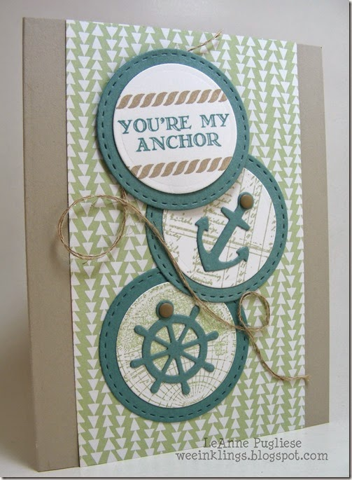 LeAnne Pugliese WeeInklings Paper Players 244 You're My Anchor Stampin Up