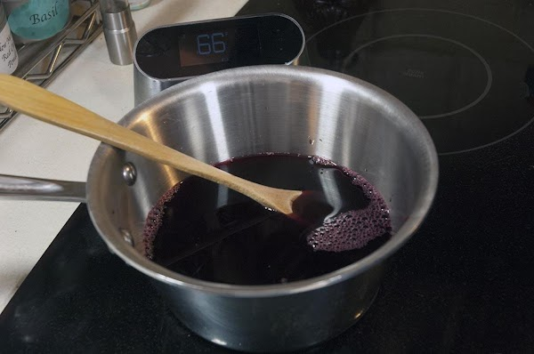 Add the pomegranate juice to a small saucepan.