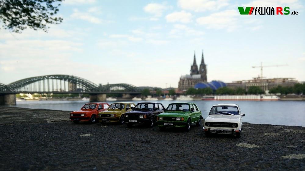 Škoda 120L + 120LS De Agostini/IST, 2x 120L Abrex, 105S De Agostini/IST
