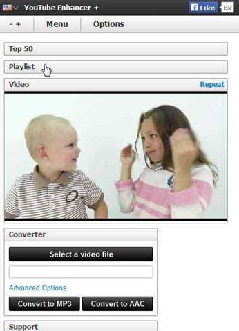youtube плеер в сайдбаре браузера