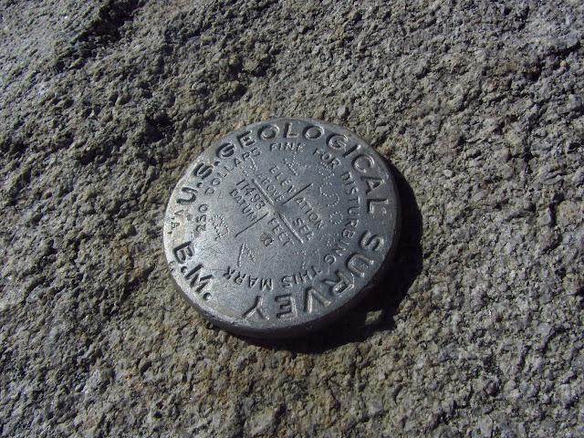 USGS marker stamped with the elevation