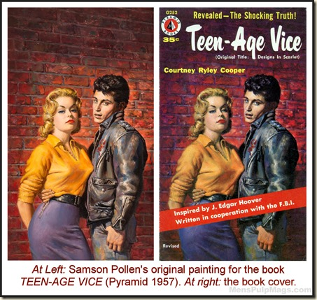 Teen-Age Vice by Courtney Ryley Cooper (Pyramid, G252, 1957)