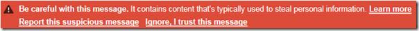 可疑信息的Gmail警告