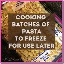Batch Cooking Pasta
