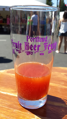 4 ounce taster pour at Portland Fruit Beer Festival