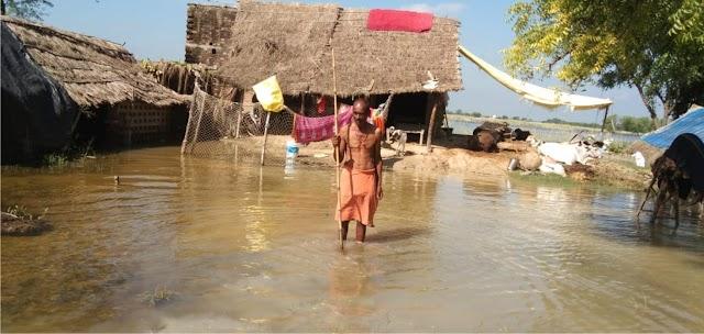 बसुही नदी के जलजमाव से कई गांवों का सम्पर्क कटा