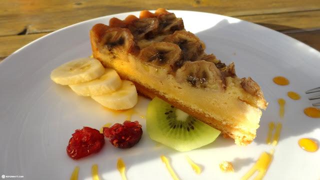 trying out this delicious pie at CABAN Tomorrowland at Hayama beach near Tokyo in Hayama, Kanagawa, Japan