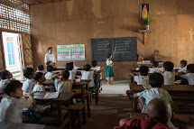 Monastic school implement the same curriculum as  government schools but have more flexibility to include important subjects such as child rights and protection. Children who live in the school usually wear monk or nun robes and the ones living in their h