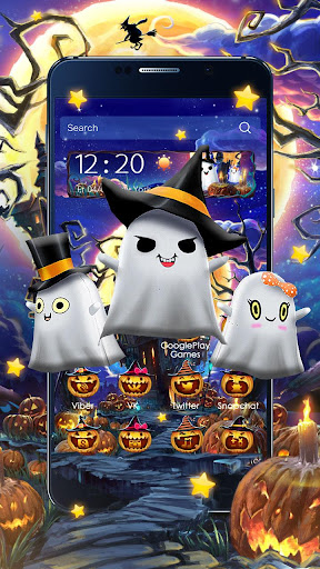 3D Halloween Ghost Theme for PC