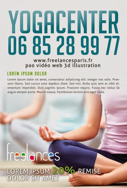 création flyer yoga center