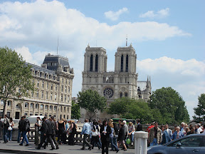 Now do you recognize those towers?  Notre Dame de Paris.