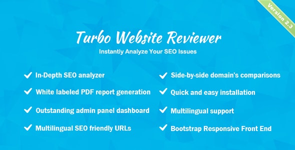 Turbo Website Reviewer v2.3 – In-depth SEO Analysis Tool nulled 2020