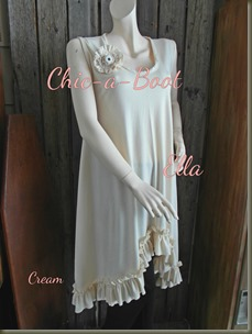 Ella Dress in Cream 1