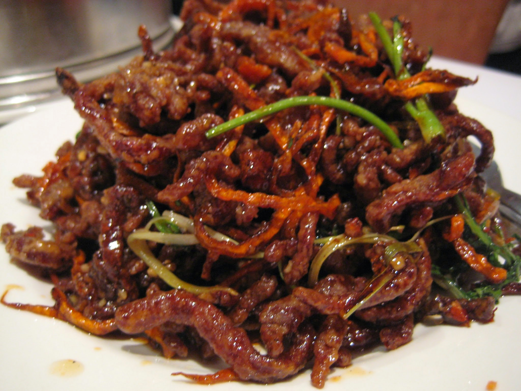 Come In And Try Our Delicious Deep Fried Beef In Peking Sauce And Why Not Hav
