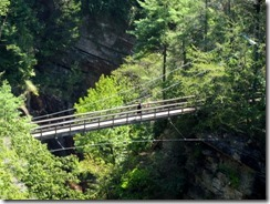 Suspension Bridge at Tallulah River Gorge