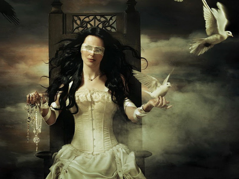 Two White Doves And Beauty, Magic Beauties 1