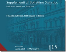 Supplementi al Bollettino Statistico. Marzo 2016
