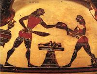 κόψιμο κρέατος,μοιρασιά κρέατος,αρχαίος Έλληνας,κομμένο μερίδες,cut of meat, meat sharing, ancient Greek, cut portions