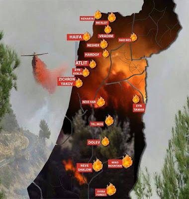 Gambar Sekitar Kebakaran Negara Israel