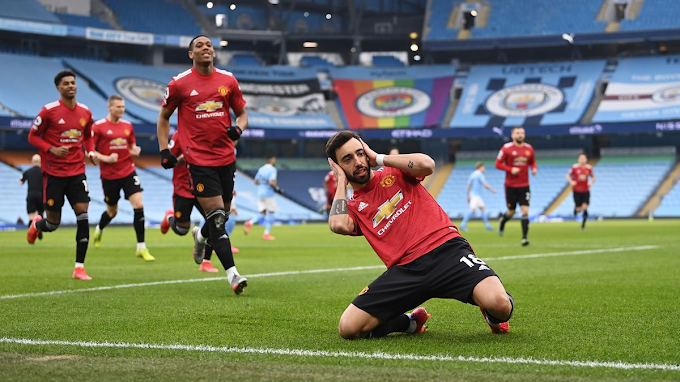 The City Of Manchester Is Red As United End City's 21-game Successive  Victories 0:2 At The Etihad