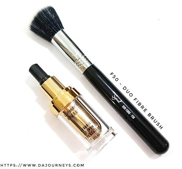 Review F50 Duo Fibre Brush dari Sigma Beauty