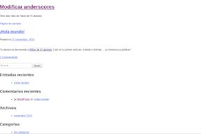 Crear un tema WordPress con Underscores. Primer paso.