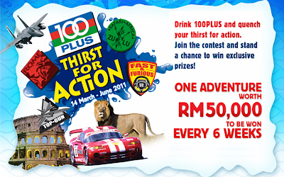 100Plus 'Thirst For Action' Contest
