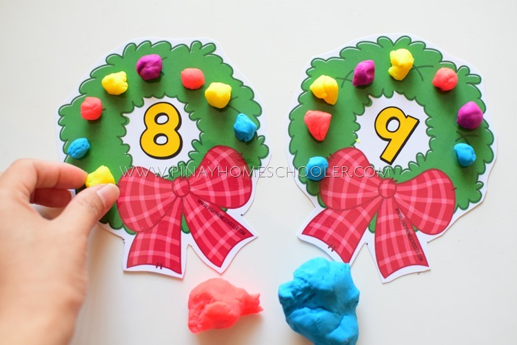 Christmas Themed Counting Activity