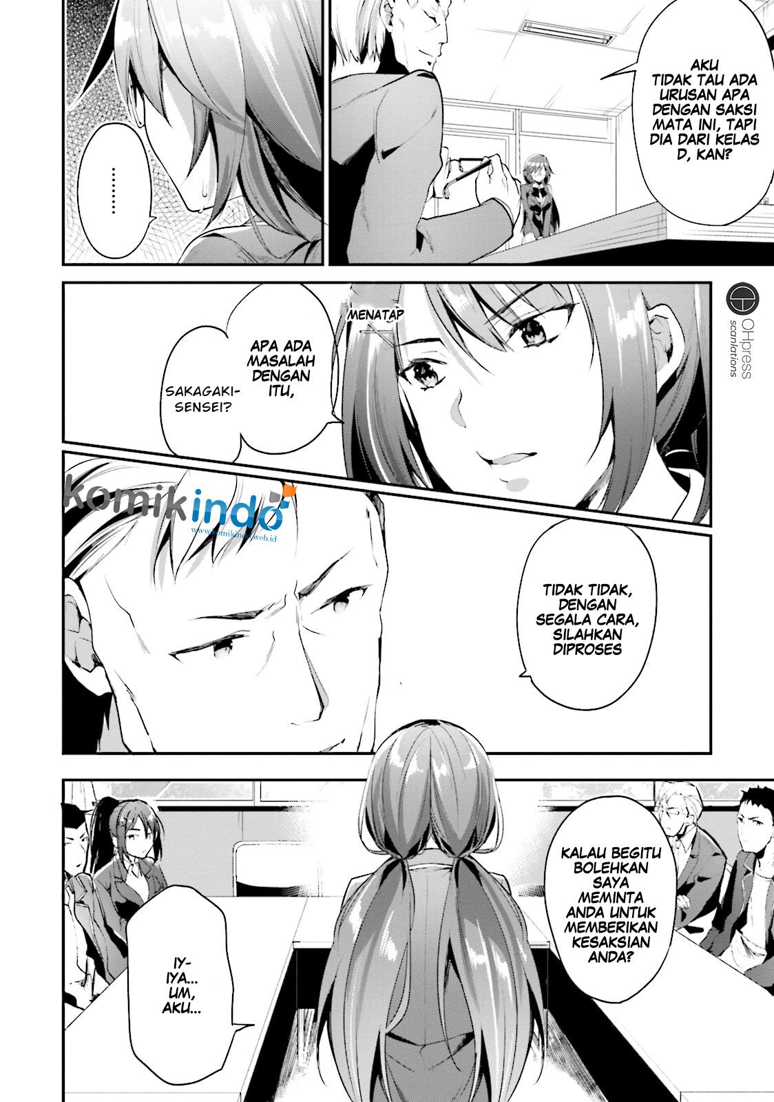 Baca Komik Youkoso Jitsuryoku Shijou Shugi no Kyoushitsu e Chapter 13 Bahasa Indonesia Page 4