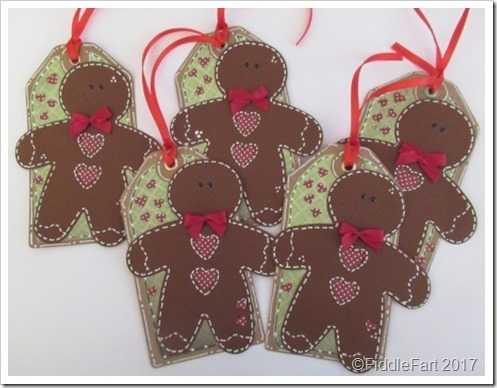 Gingerbread men Christmas Tags