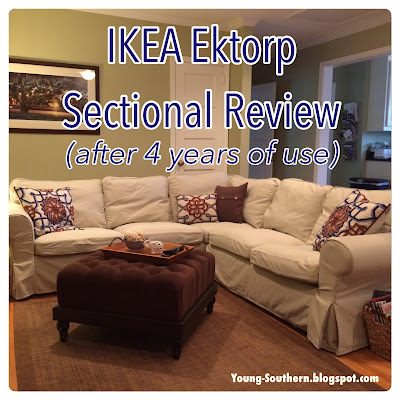 Young & Southern Review IKEA Ektorp Sectional after 4 years of daily use