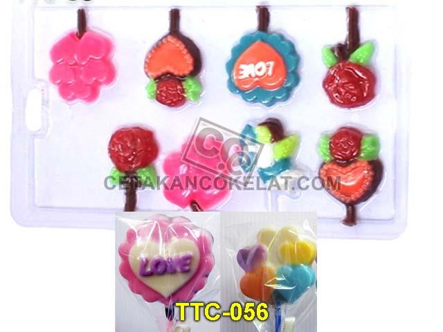 Cetakan Coklat TTC56 Lolipop Love valentine Cupid Panah