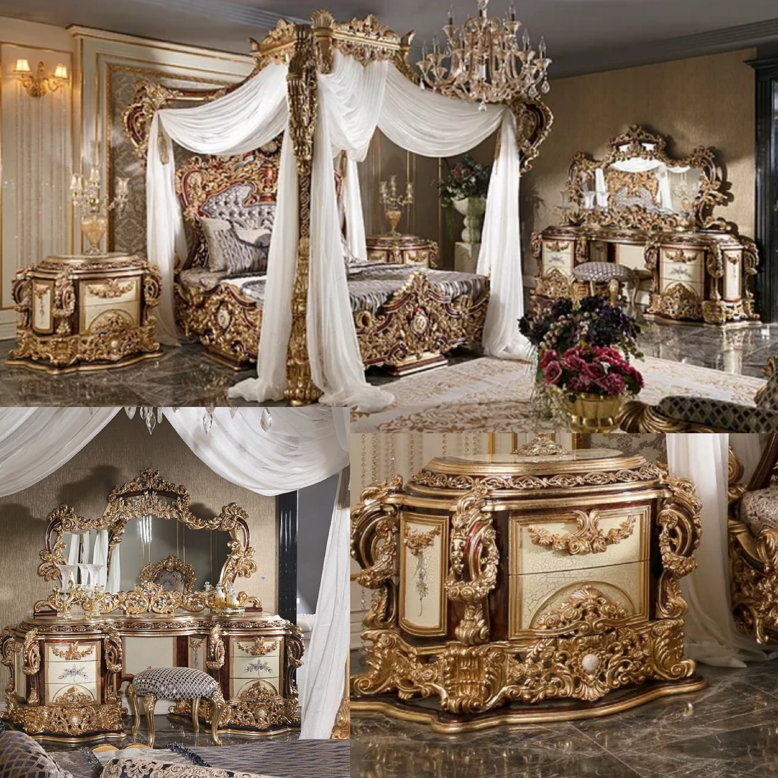 Set Kamar Tidur Gold Luxury
