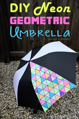 DIY-Neon-Fabric-Painted-Geometric-Umbrella