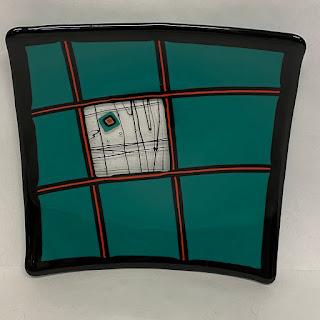 Ellis Art Glass Plate