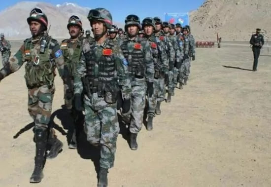 Indian-chinese security forces together