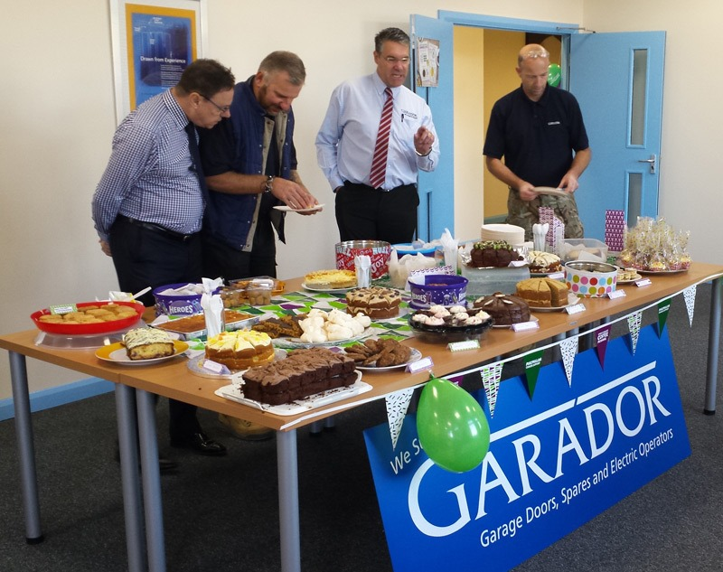 The team from Garador at their 2018 Macmillan Coffee Morning