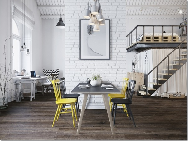 case e inetrni - mini loft praga - stile scandinavo (3)