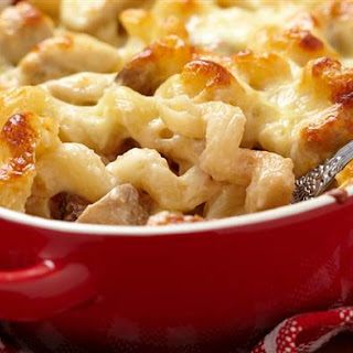 One-Pan No-Boil Baked Macaroni and Cheese.
