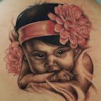 baby portrait tattoo - tattoos ideas