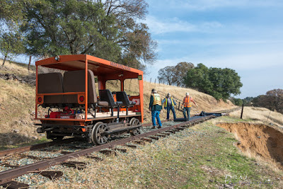 Work on slide #2 on the Amador Central Railroad, 11-25-2017.