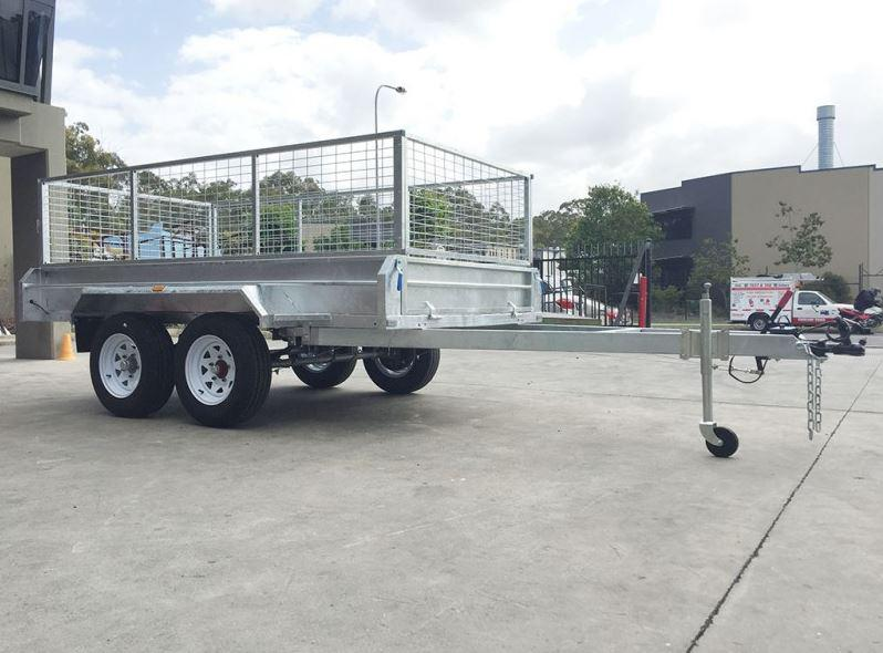 10 x 6 Galvanised Tandem Dual Axle Box Trailer Tradesman